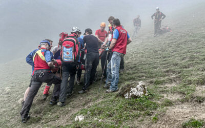 Aufwändige Rettungsaktion am Heuberg durch die Bergwacht